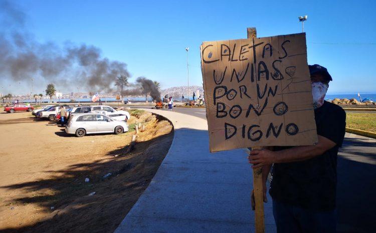 Pescadores de Coquimbo, se manifiestan contra exigencias para bono de la Agenda Solidaria