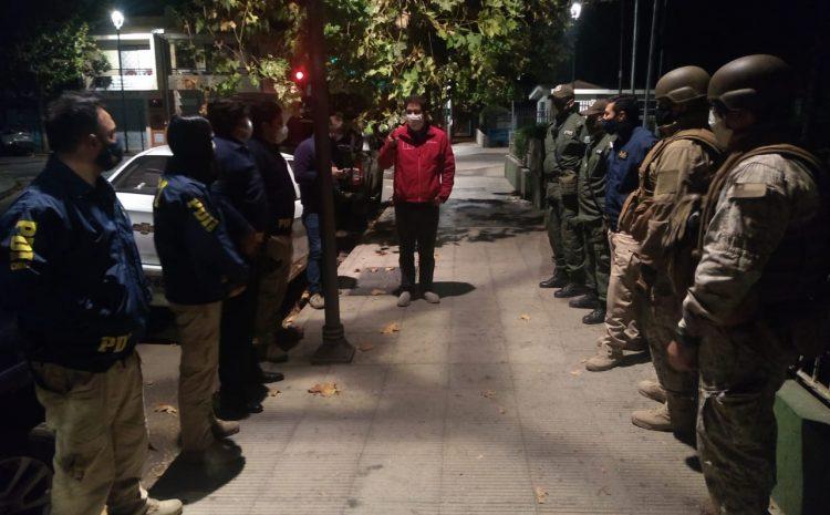 Gobernador de Choapa y Policías de la zona desarrollan fiscalización de toque de queda en Salamanca y sectores rurales