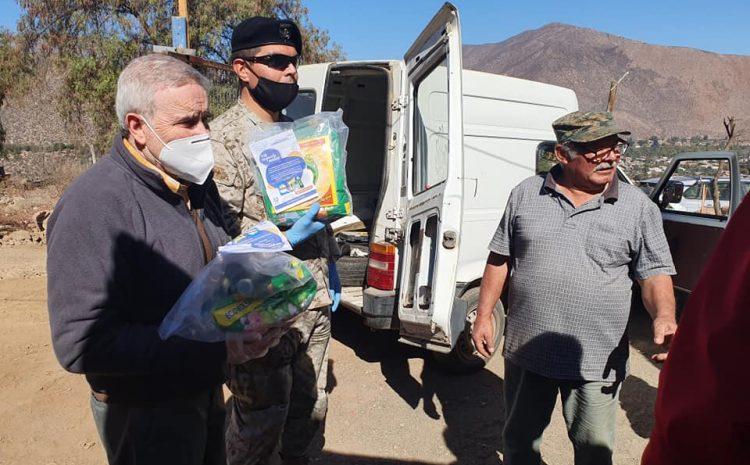 Familias de campamentos en Salamanca reciben kits de limpieza para combatir el Covid-19