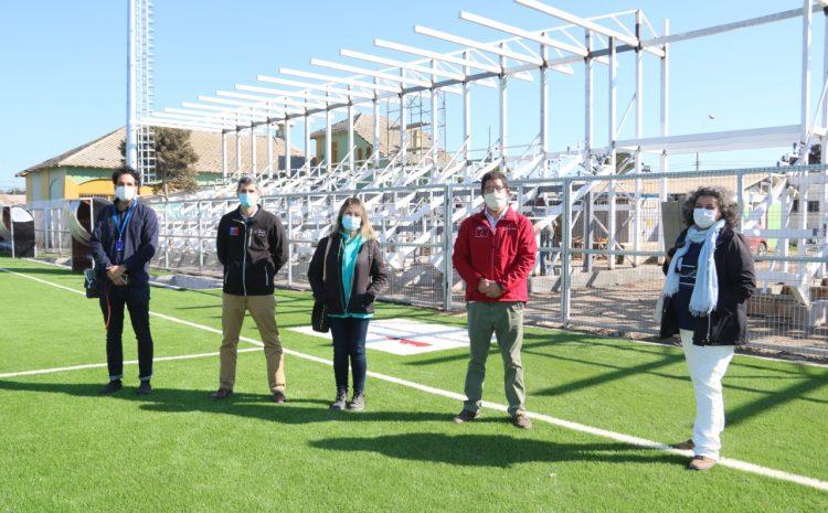 Gran avance presentan obras de Infraestructura Deportiva en Los Vilos