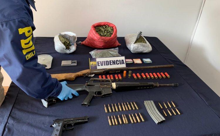 PDI incauta armas y droga en Vicuña