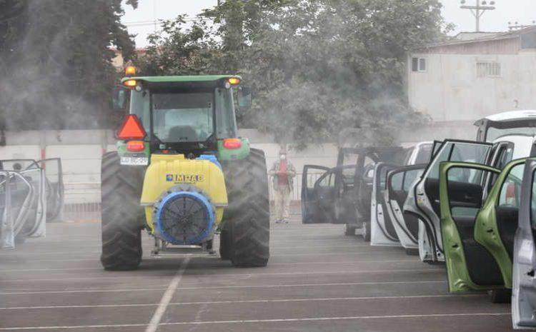 Con éxito continúa sanitización de vehículos de locomoción colectiva y particulares