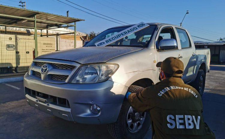 Carabineros recuperó camioneta que había sido robada hace mas de un año en Los Vilos