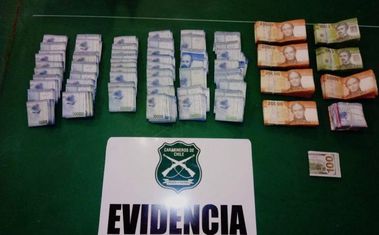Carabineros recuperó más de quince millones de pesos robados desde una empresa agrícola en Ovalle