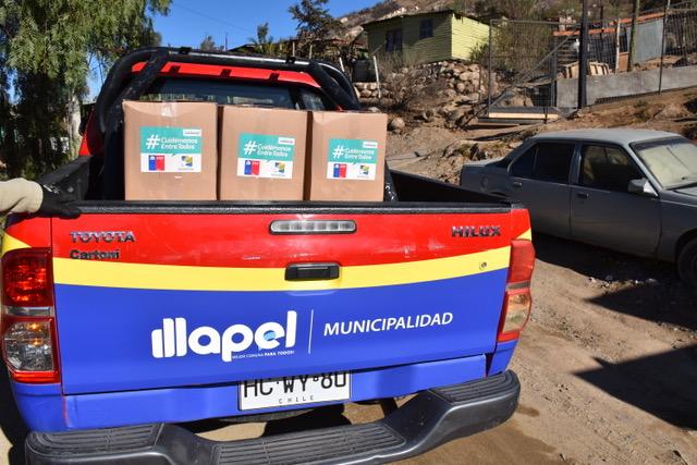 Directora de desarrollo comunitario realiza balance de entrega de cajas familiares en la comuna de Illapel