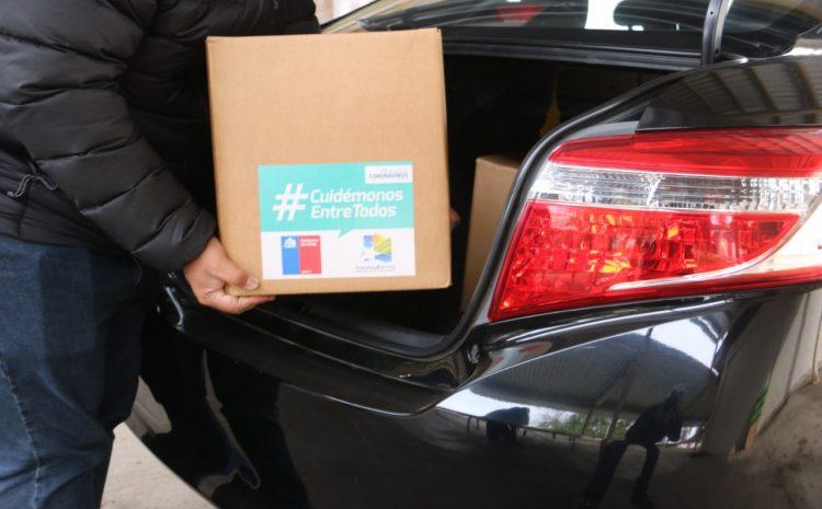 500 cajas de alimentos llegan al Choapa para beneficiar a conductores de colectivos