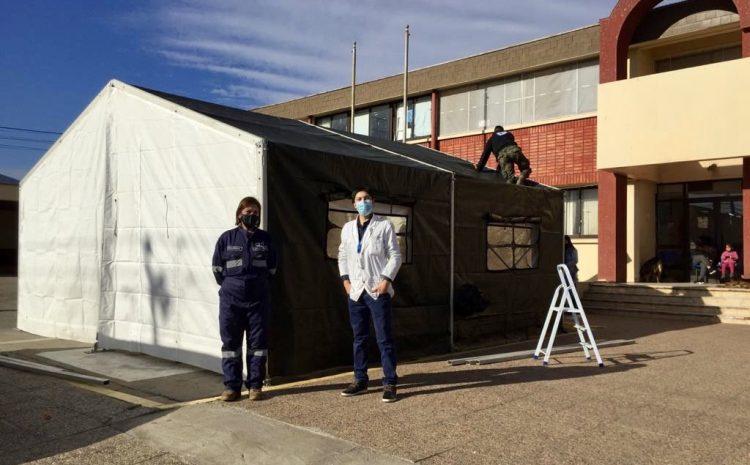 Ya está instalada la carpa sanitaria en Hospital San Pedro de Los Vilos