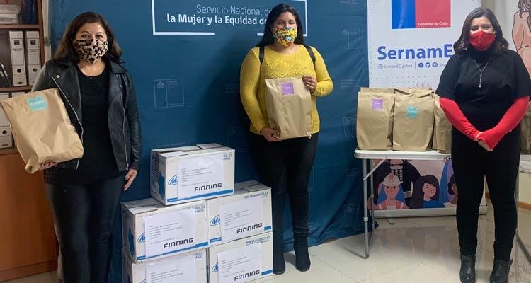 SernamEG Coquimbo y Finning Chile se unen para apoyar a mujeres emprendedoras durante la alerta sanitaria