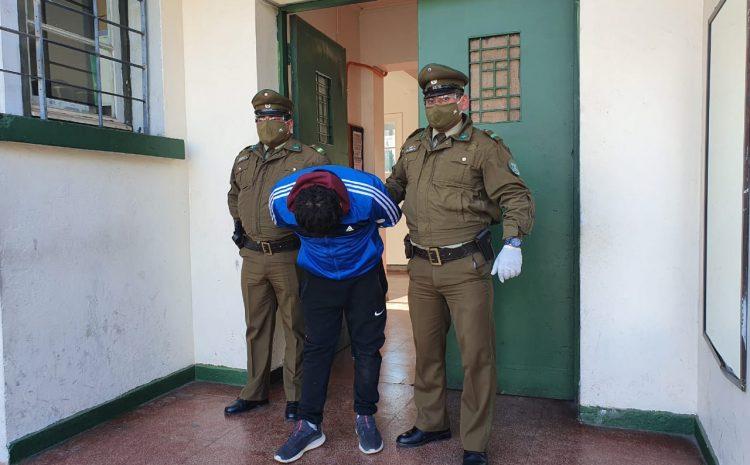 Carabineros de Illapel detiene a sujeto que transitaba sin documentos y en una motocicleta robada