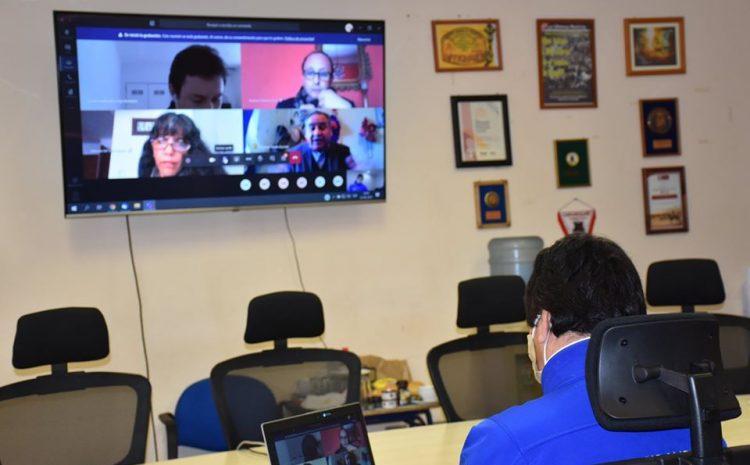 Alcalde denis cortés presenta plan de apoyo y reactivación económica ante el consejo regional por videoconferencia