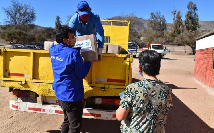 Municipalidad de Illapel entrega cajas familiares afectados por sequía y pandemia Covid-19