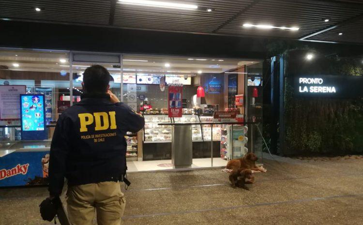 PDI investiga robo con intimidacion en un servicentro en La Serena