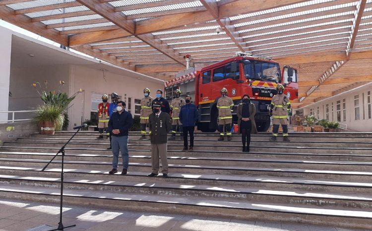 Bomberos de Monte Patria reciben moderno carro implementado para combatir incendios desde las alturas