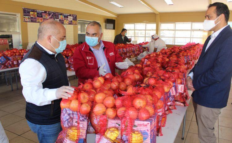 Junaeb ha entregado más de 378 mil canastas de alimentos a estudiantes de la región de Coquimbo