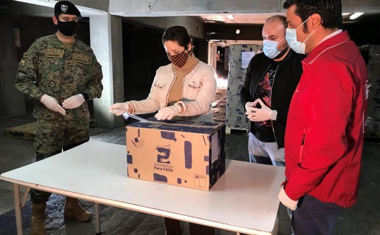 Con la llegada de las primeras cajas comienza segunda parte del programa Alimentos para Chile en la región