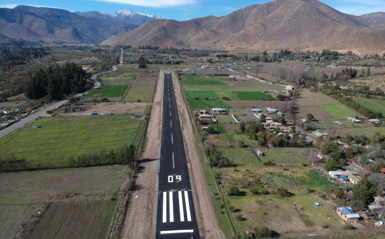 MOP ejecuta obras de mejoramiento en pista de aeródromo de Salamanca