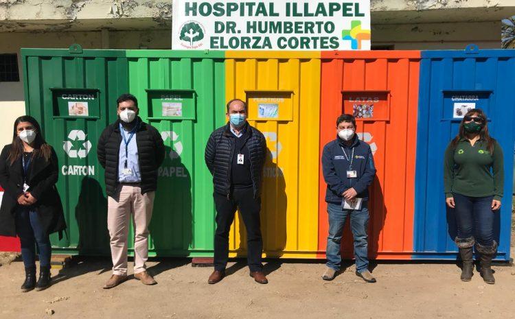 """Hospital de Illapel establece """"punto limpio"""" para la comunidad hospitalaria"""