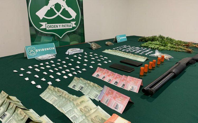 Cuatro detenidos por tráfico y microtrafico de droga deja dos operativos en la comuna de Coquimbo