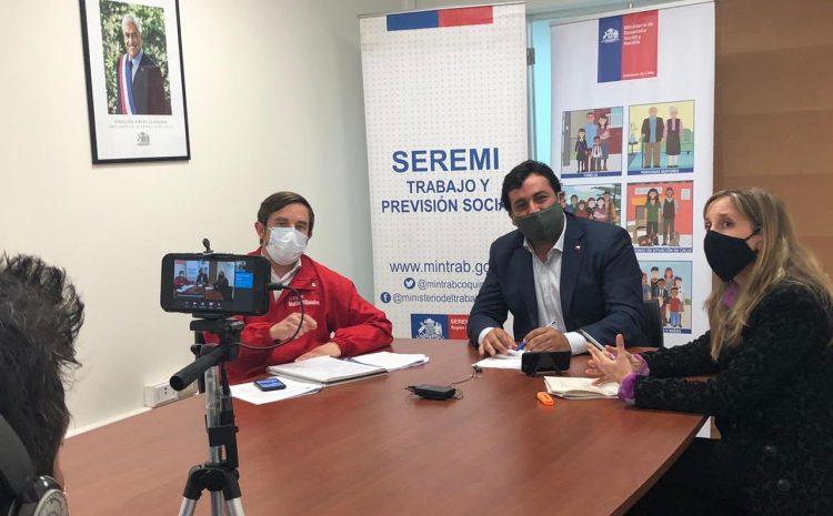 Autoridades regionales realizan primera Vocería Social presentando la nueva plataforma de la Red de Protección Social