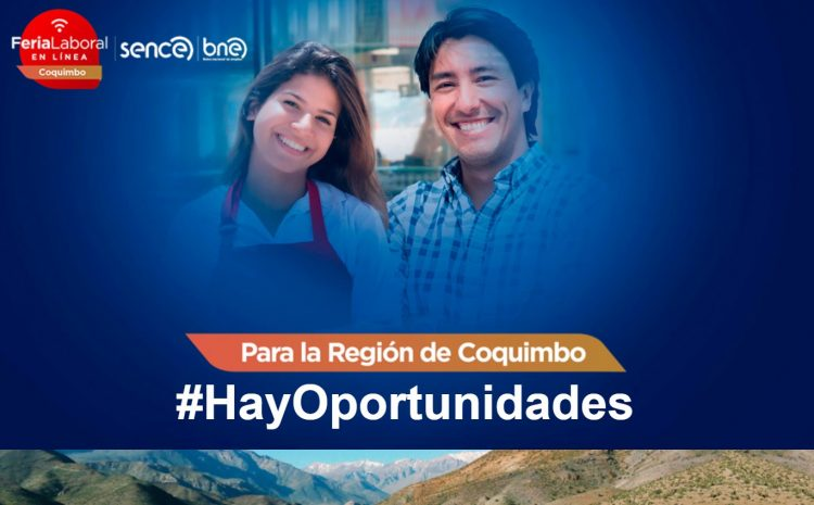 Más de 1.800 cupos laborales ofertará primera Feria Laboral Virtual en la Región de Coquimbo