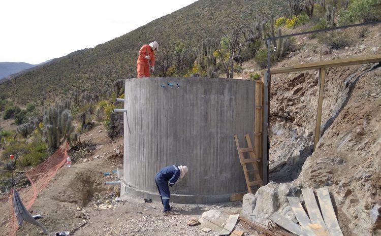 Trabajos de mejoramiento del sistema de Agua Potable Rural de Huintil presenta un 50% de avances