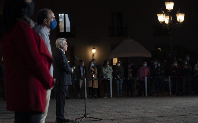 Presidente Sebastian Piñera realiza declaración tras Plebiscito Nacional