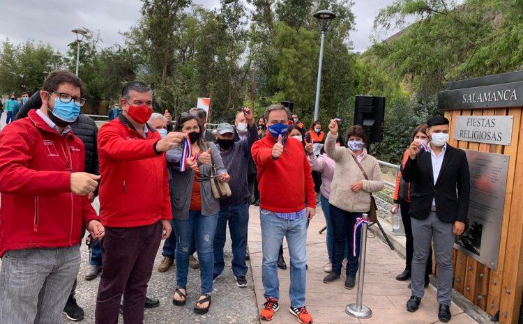 En Salamanca se dio por inaugurado el nuevo paseo peatonal en el sector del By Pass