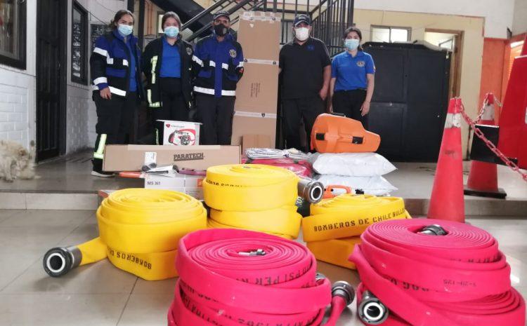 Cuerpos de Bomberos de Los Vilos no descansan y sigue avanzando con nuevo equipamiento