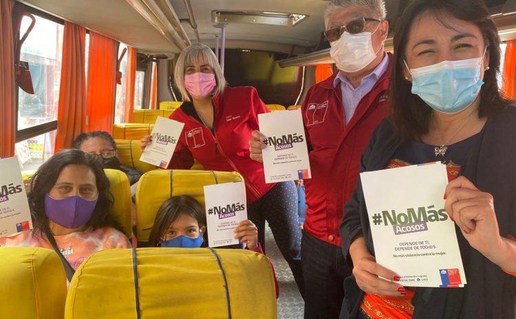 Realizan campaña para prevenir y denunciar acoso sexual a mujeres en el Transporte Público