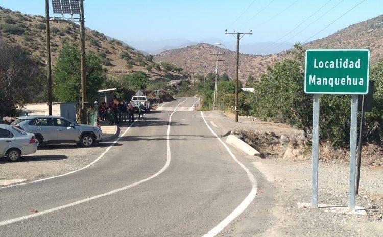 Ponen en marcha más de Seis Kilómetros de ruta en sector de Manquehua