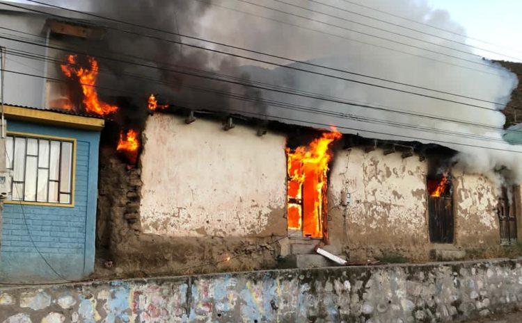 Incendio afectó este domingo a dos viviendas en la comuna de Illapel
