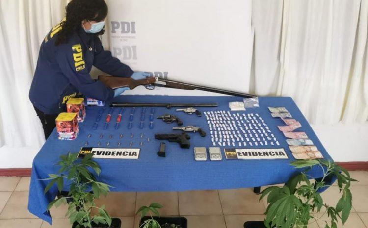 """PDI incauta armas, munición y droga por investigación de foco """"Armas Limarí"""""""