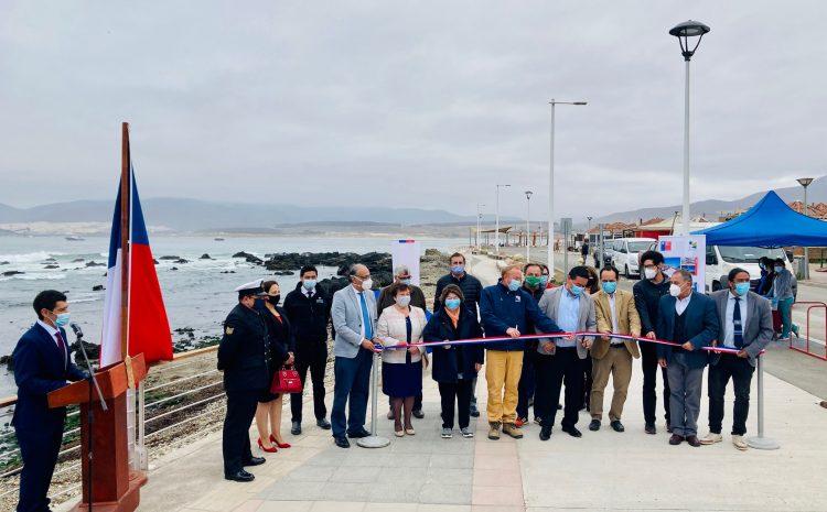 Mejorado paseo peatonal de la costanera de Los Vilos potenciará a las caletas de San Pedro y Las Conchas