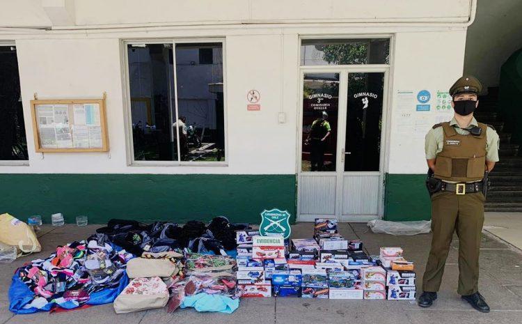Carabineros de Ovalle detiene a un hombre por distribución de mercadería de forma ilegal