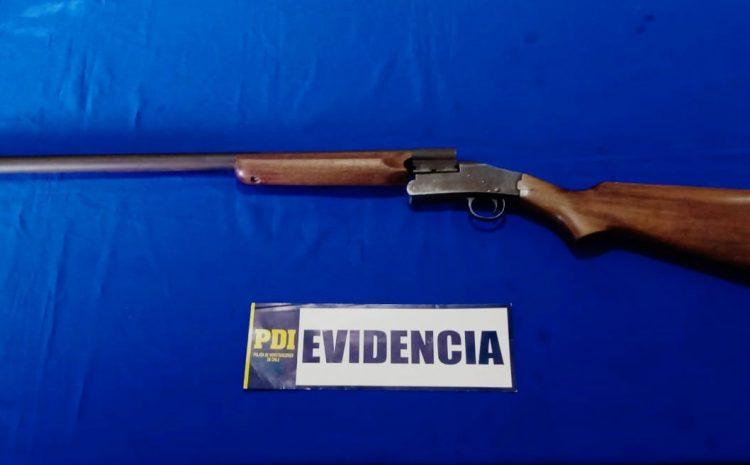 La PDI incauta arma de fuego y realiza diligencias sobre una menor que mantenía encargo por presunta desgracia