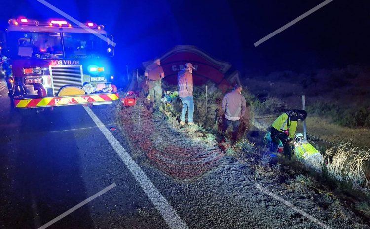 Dos motociclistas resultaron con lesiones luego de un accidente en la comuna de Los Vilos