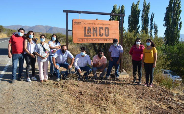 Municipalidad de Illapel ha inaugurado nueve letreros en localidades rurales de la comuna.