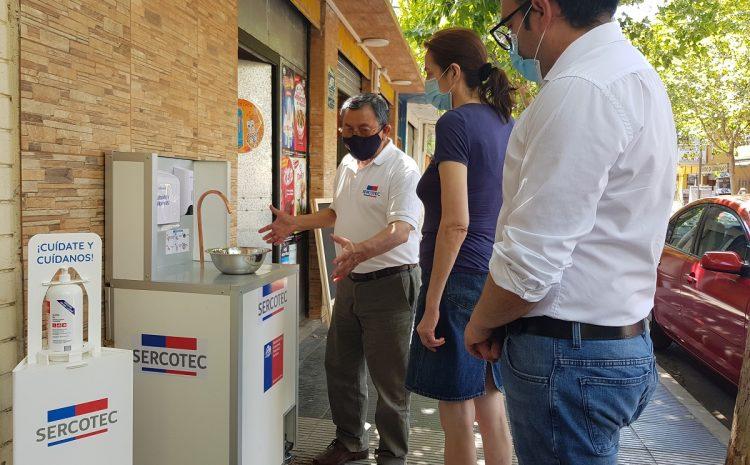 Kit de Sanitización de Sercotec llegan a 880 locatarios de sectores comerciales y ferias libres de la región