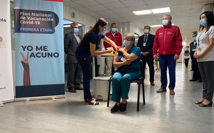 Este lunes comenzó la vacunación de 8.300 funcionarios de salud en la Región de Coquimbo