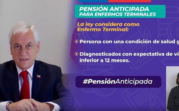 Presidente Piñera promulga ley que permite una pensión anticipada para personas con enfermedades terminales