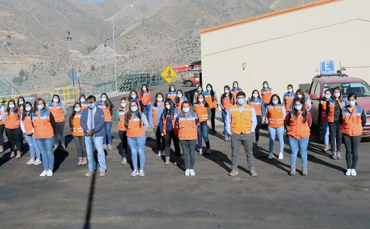 Minera Los Pelambres da bienvenida a participantes de sus programas de aprendices, memoristas y practicantes