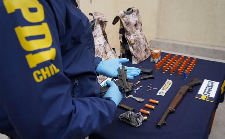 PDI incauta armas y municiones a fogueo modificadas y aptas para disparos
