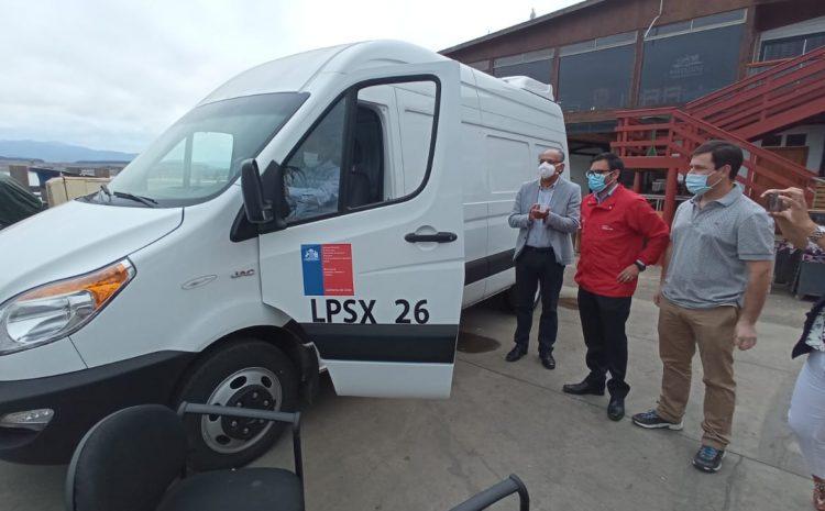 Pescadores de Los Vilos podrán comercializar directamente sus productos gracias a nuevo furgón refrigerado