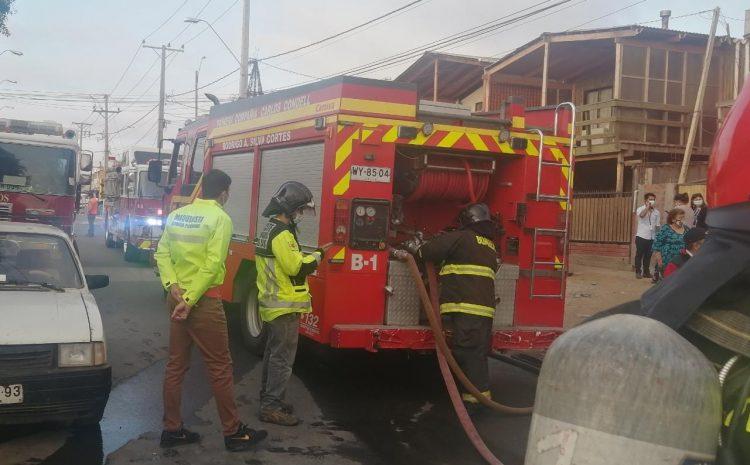 Incendio en Los Vilos afecta a vivienda de una mujer Adulto Mayor