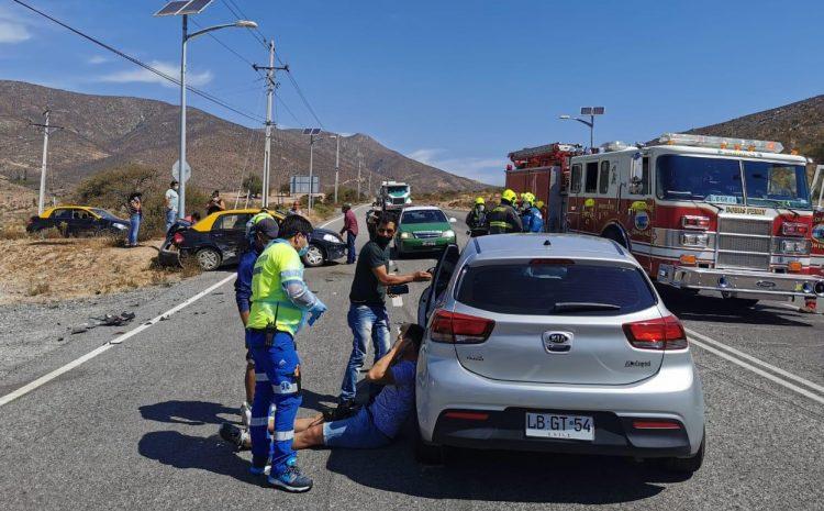Accidente automovilístico deja 3 personas lesionadas en Illapel