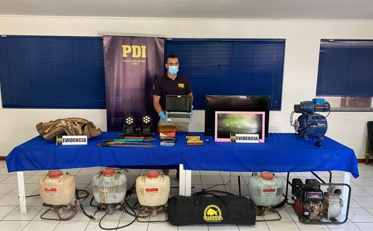 PDI lograr recuperar especies luego de una seguidilla de robos en sectores rurales de Salamanca