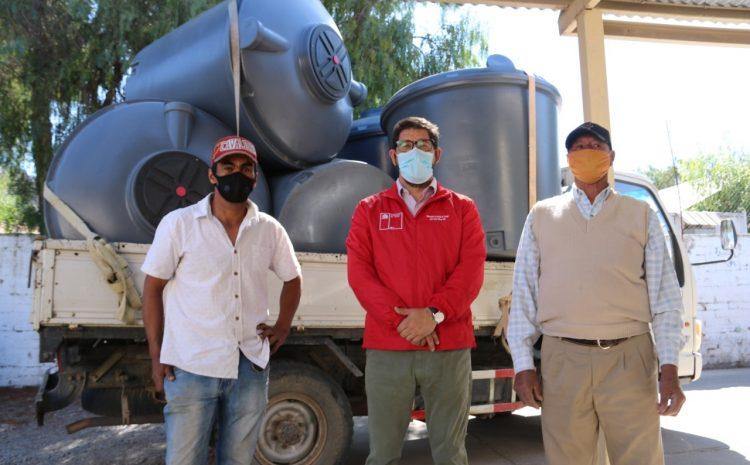 6 familias de la provincia de Choapa recibieron estanques de 1200 litros mediante fondos Orasmi