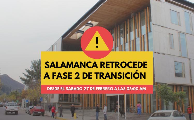 Las comunas de Salamanca y Vicuña retroceden a Fase 2 de Transición