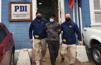 """PDI detuvo a """"El Lolo"""": era buscado por diversos delitos en Quillota"""