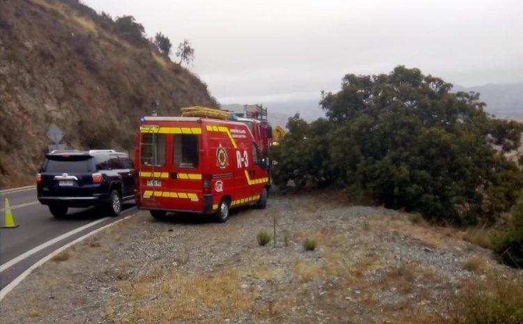 Dos adultos mayores fallecieron en accidente automovilístico en Cuesta Cavilolén